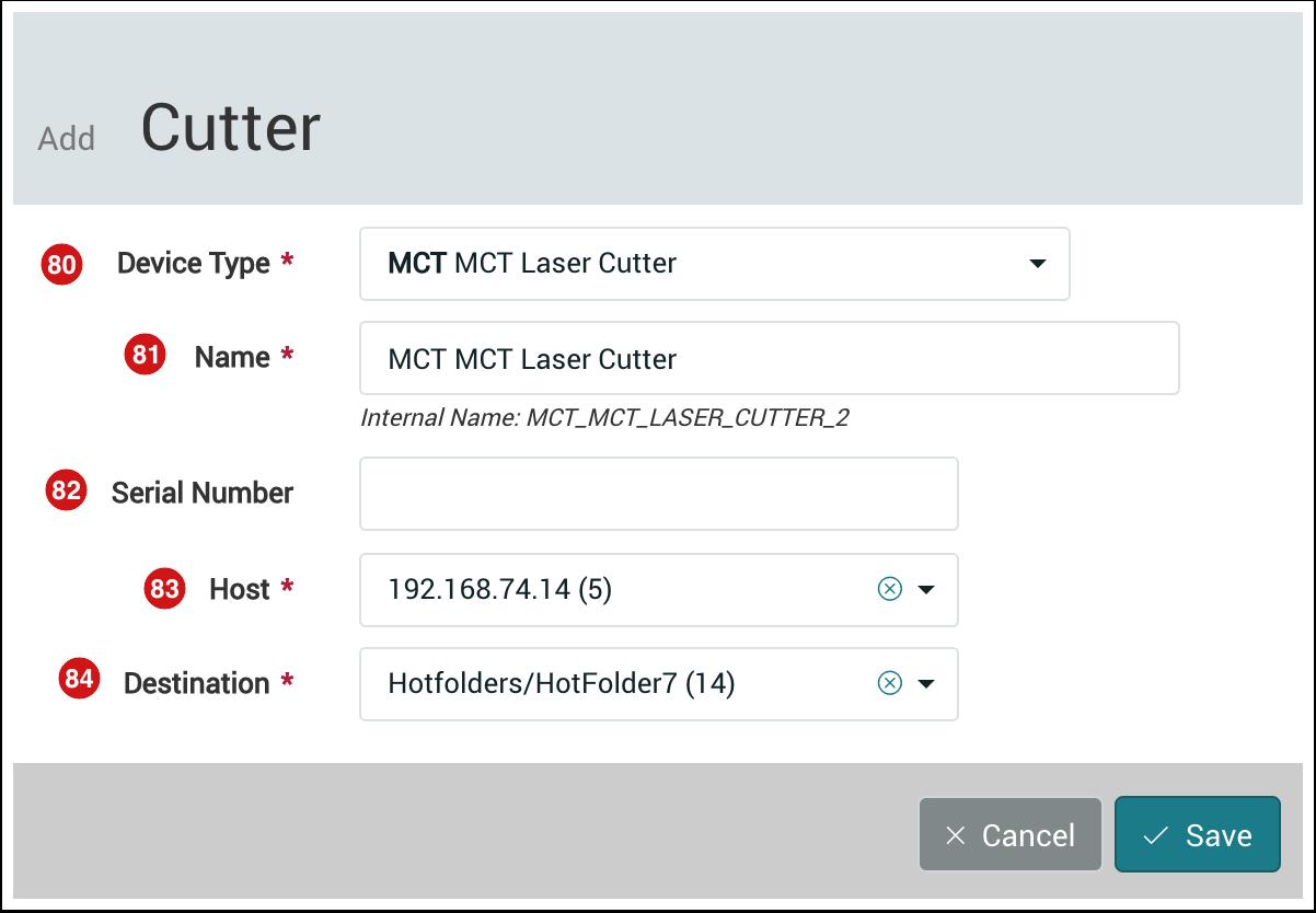 Add Cutter dialog - 1.7.4