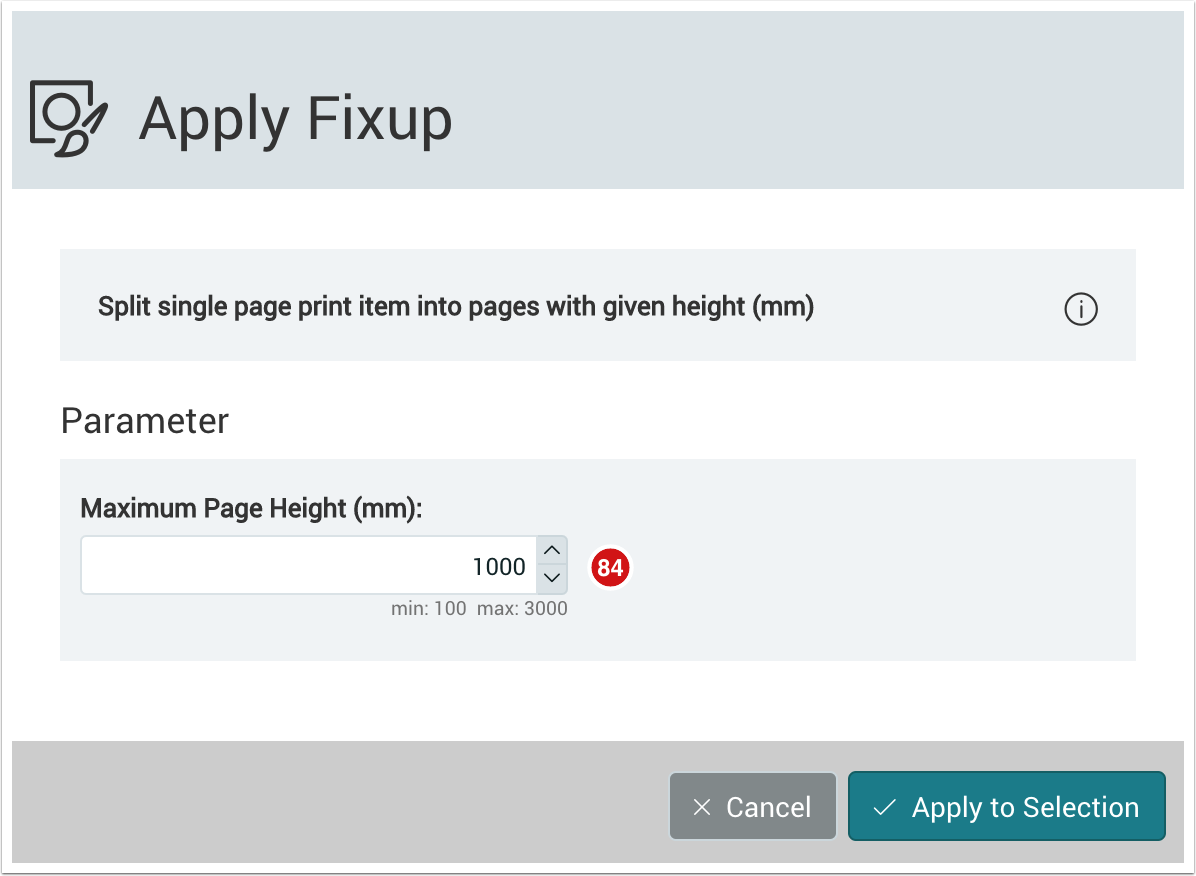 Split single page print item into pages with given height - 1.7.3