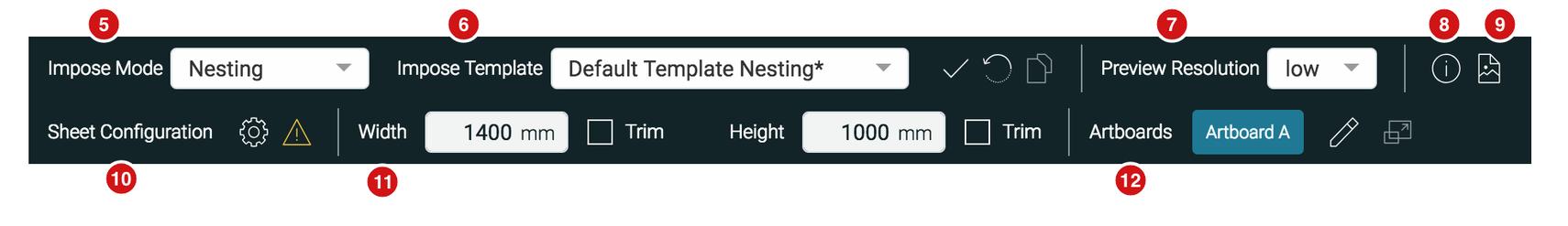 Impose Editor Header redesign 1.7.2