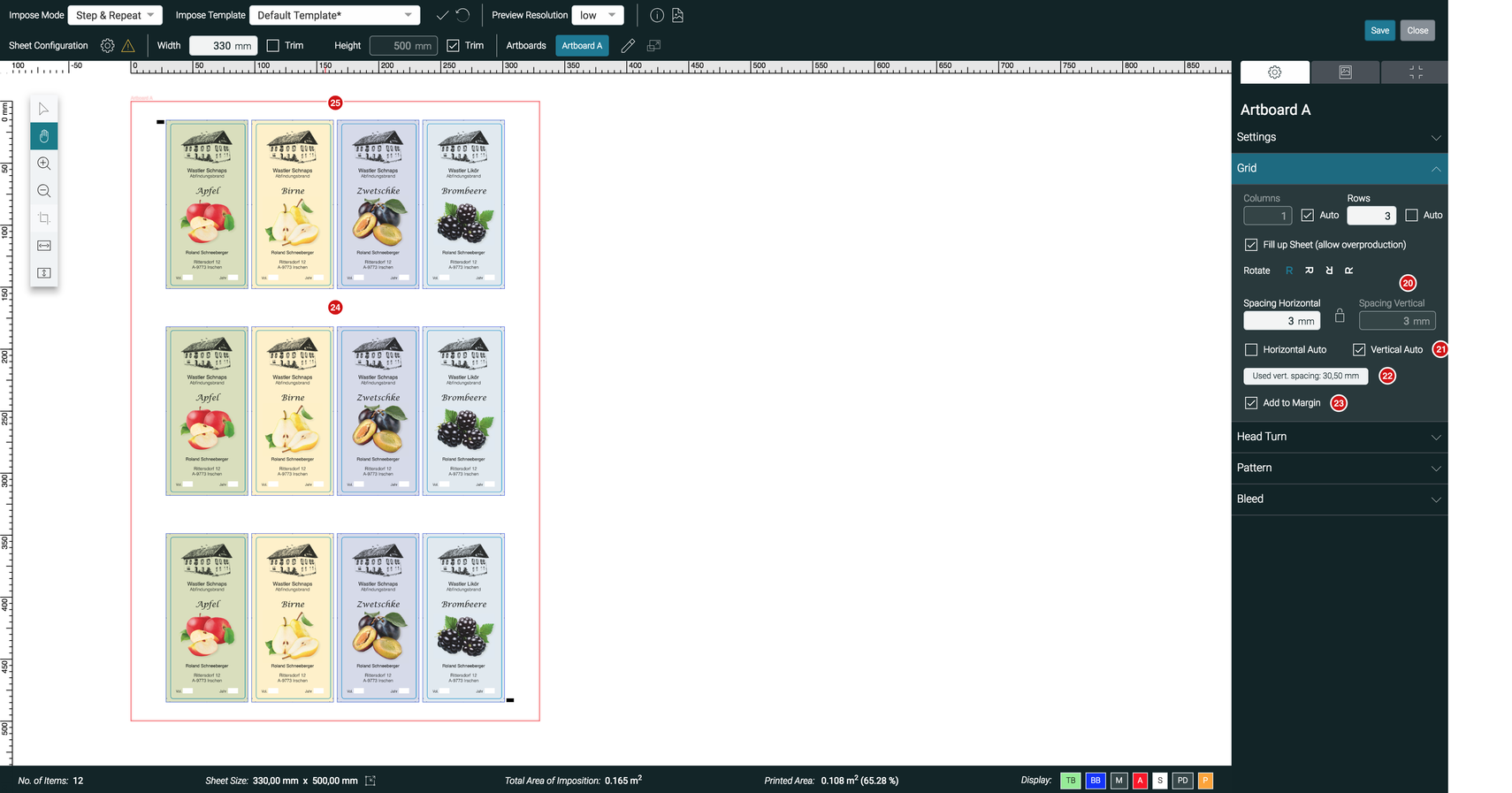 Impose Editor Vertical and Horizontal Auto feature 1.7.2