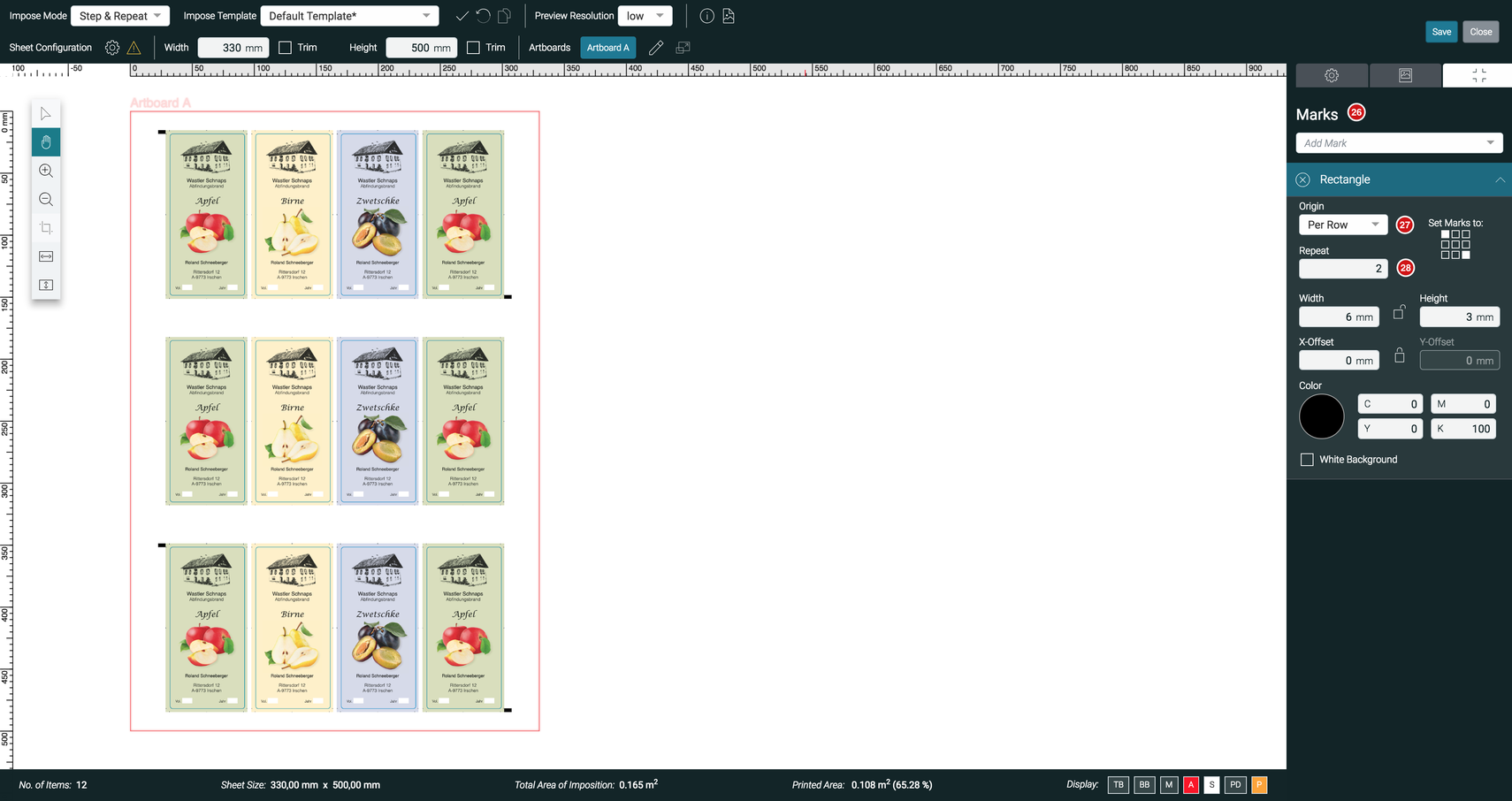 impose Editor Marks Per Row feature 1.7.2
