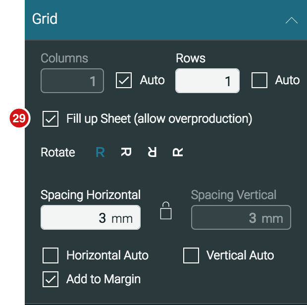 Impose Editor Grid panel Fill up Sheet feature 1.7.2