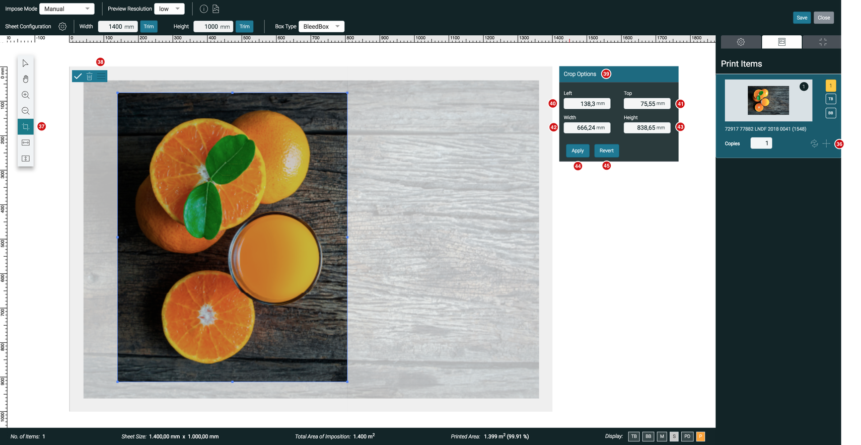 Impose Editor Crop Tool Extended Mode 1.7.2