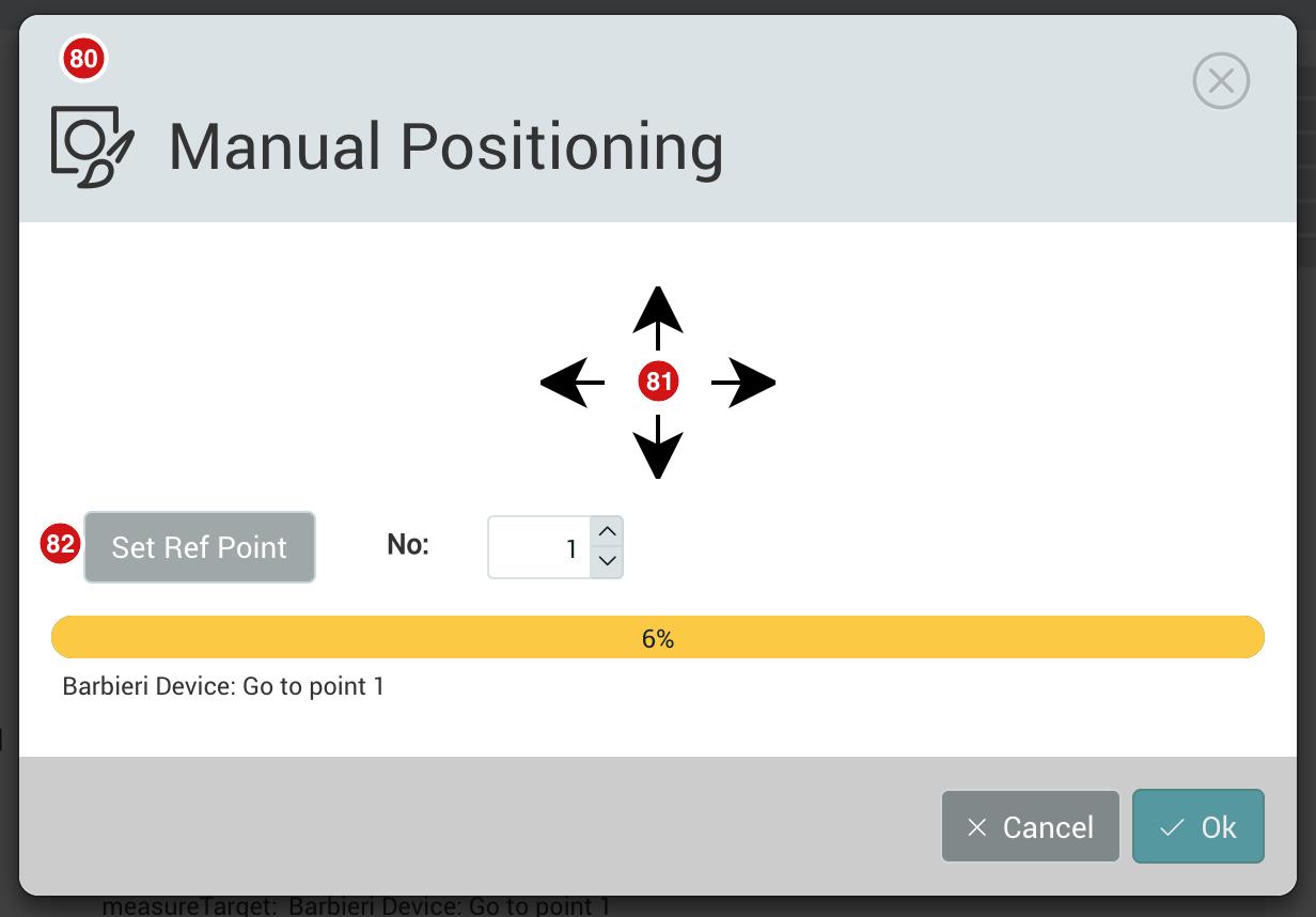 Manual Positioning dialog