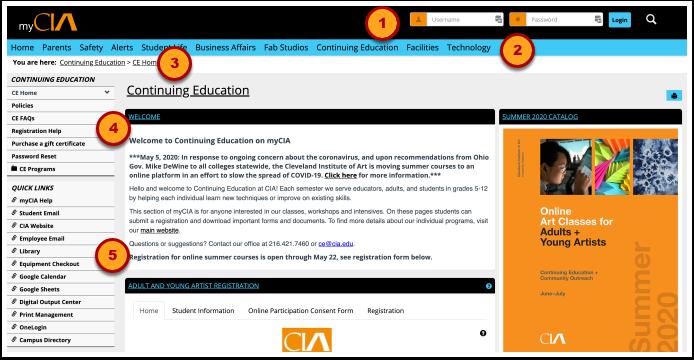 CE Home | Continuing Education | myCIA