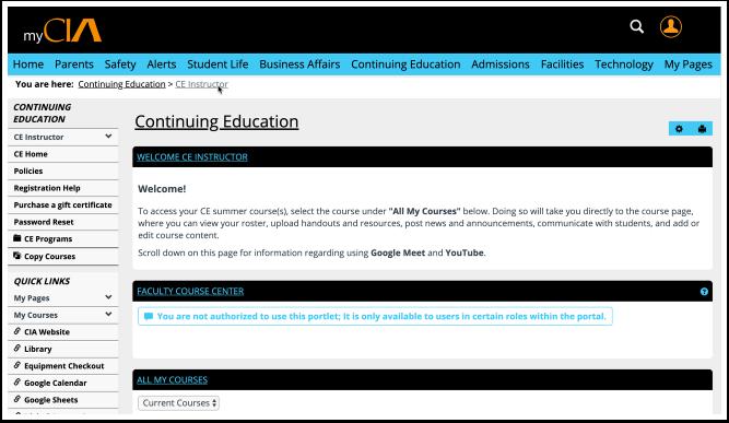 CE Instructor | Continuing Education | myCIA