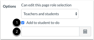 Edit Page Settings