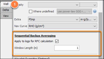 Apply sequential backus averaging