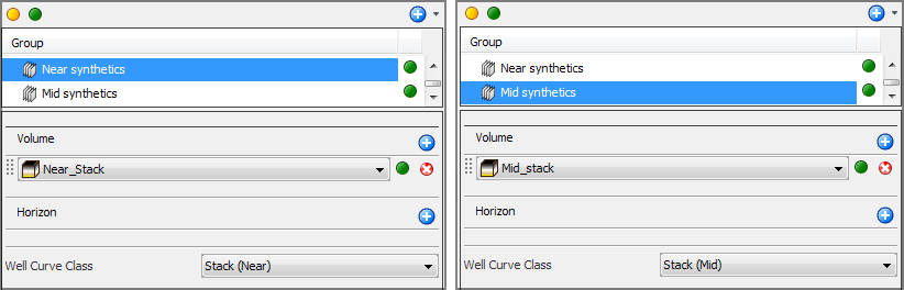 Display synthetics in groups
