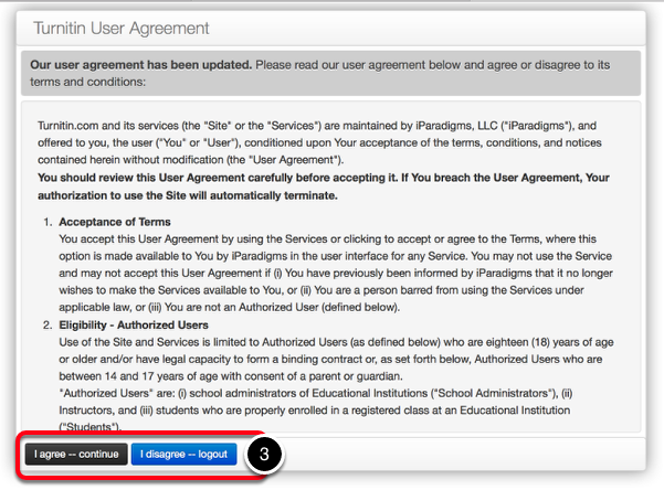Step 3: Read User Agreement