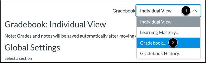 Switch Gradebooks