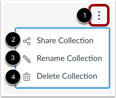 View Collection Options