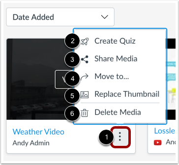 Manage Media Options
