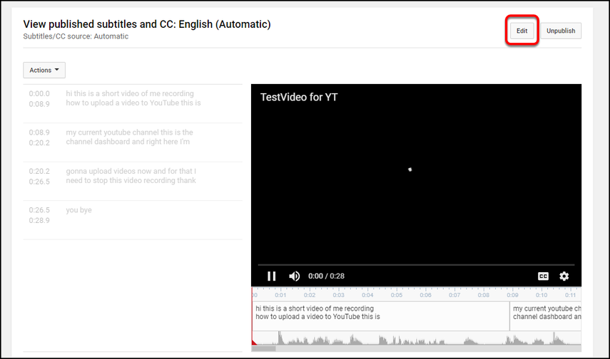 view automatic captions.
