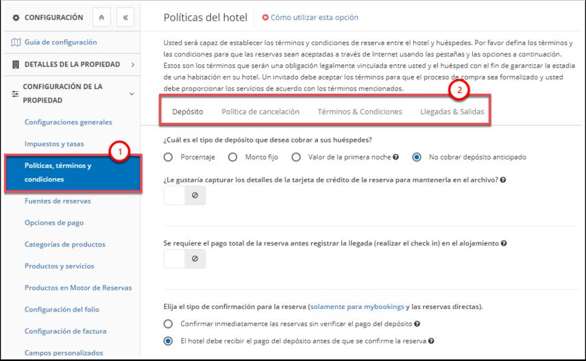 DEMO - El Bolsón - Políticas, términos y condiciones - Google Chrome
