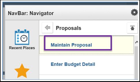 Navigator / Maintain Proposal Image