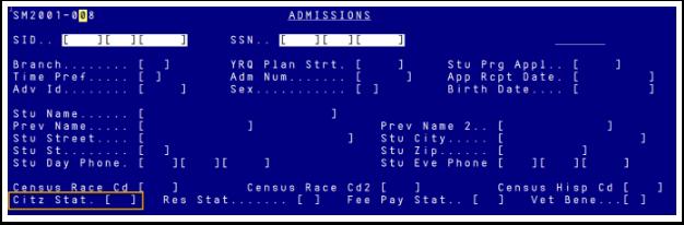 Citizen Status in Legacy