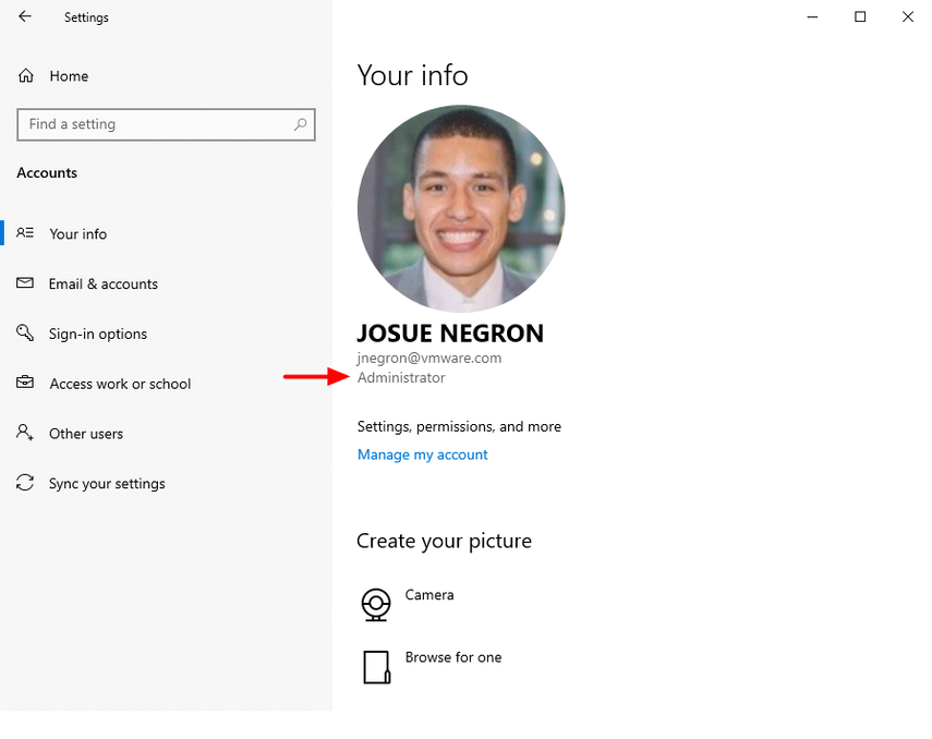 Verify administrator access on a Windows 10 device to help with Windows troubleshooting.