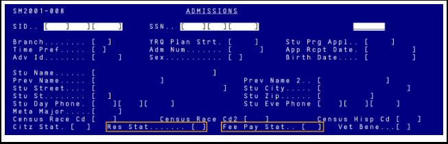Residency Status in Legacy