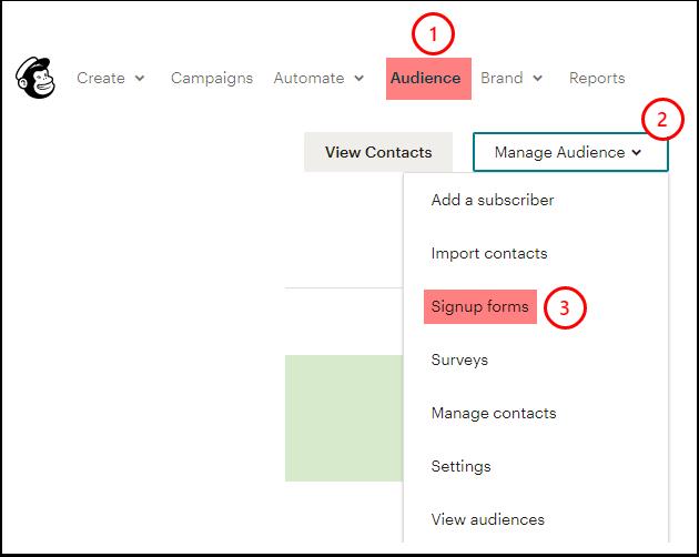 Audience dashboard | Mailchimp - Google Chrome