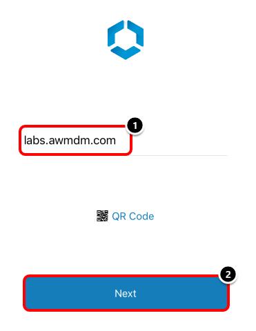 Enter the AirWatch Server URL