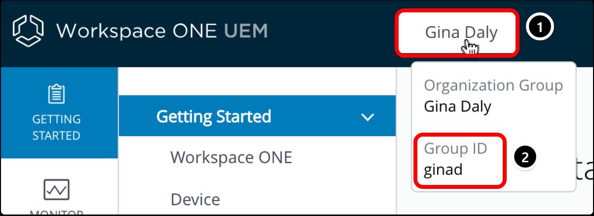 Workspace ONE UEM Group ID