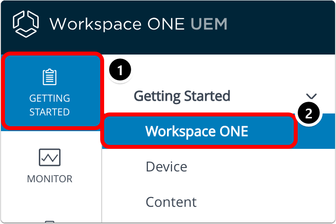 Navigate the Workspace ONE UEM (AirWatch) console