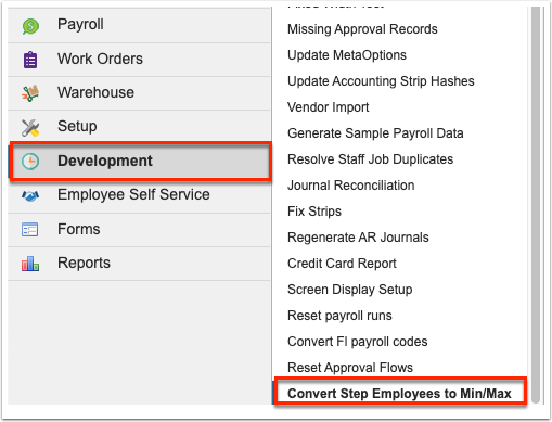 Convert Step Employees to Min/Max