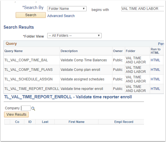 Query Search Results Example