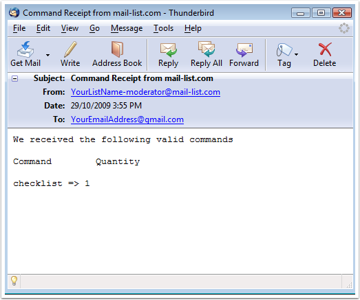 You will receive an email receipt that will look like this: