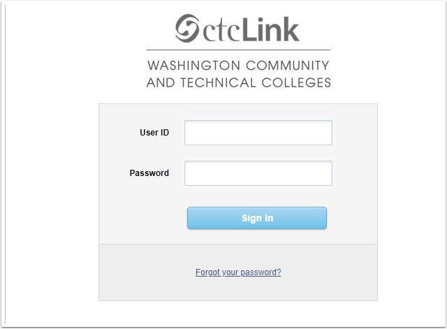 PeopleSoft Login Page