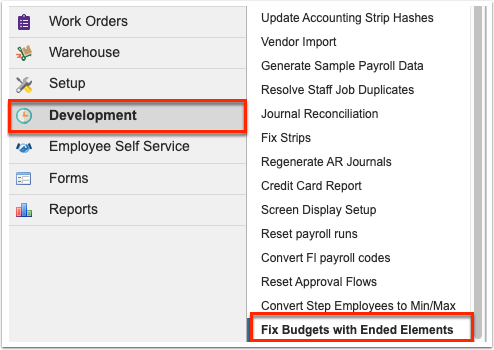 Fix Budgets with Ended Elements