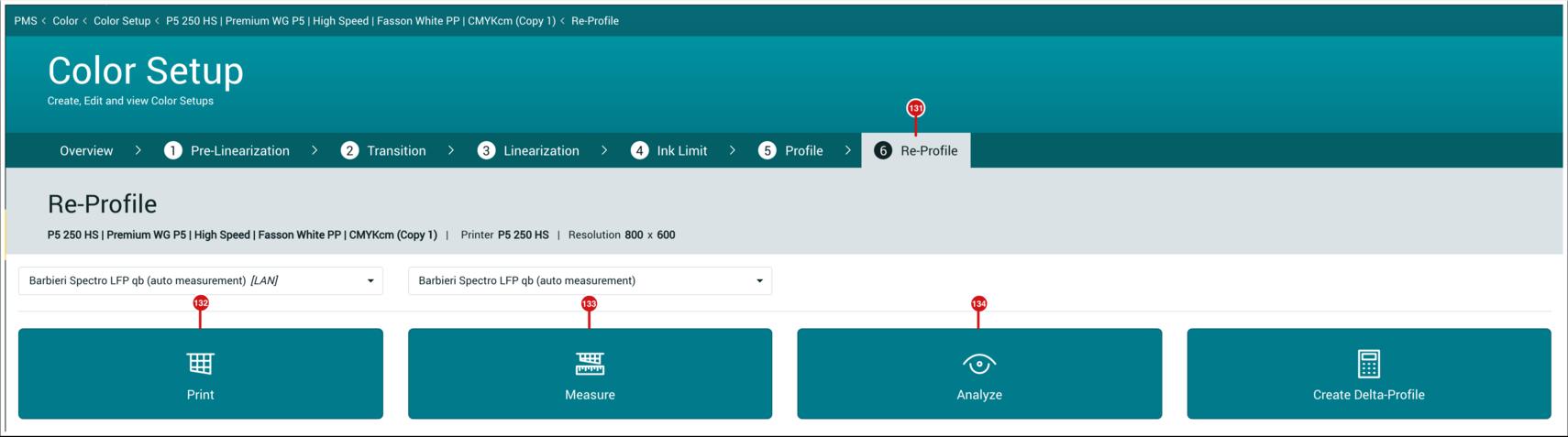 PMS WebGui :: Re-Profile