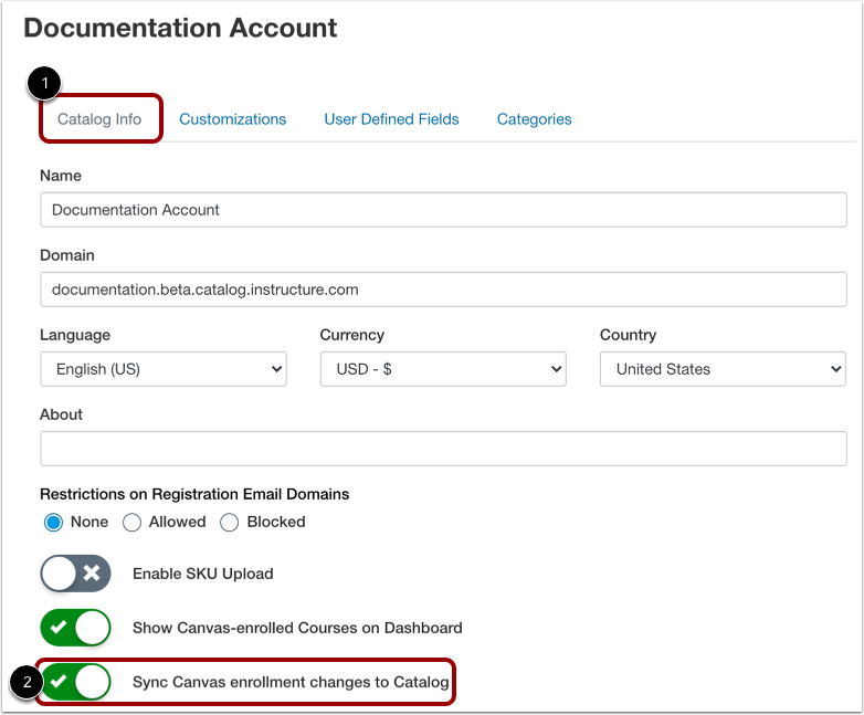 Enable Canvas Enrollment Sync