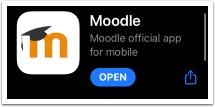 Moodle app logo
