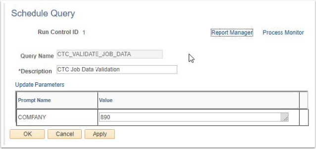 Schedule Query Page Example