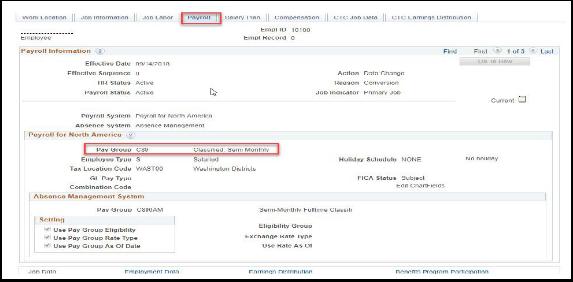 Payroll Tab Example