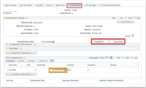 Compensation Tab Example