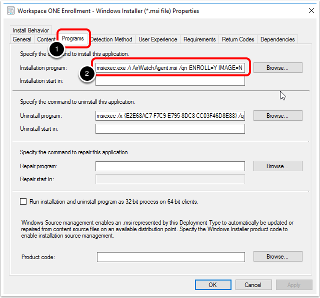 Review Enrollment Application Settings in ConfigMgr