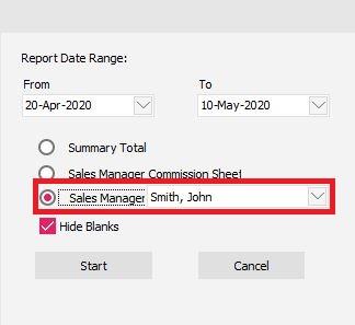 Option 3 - Sales Manager