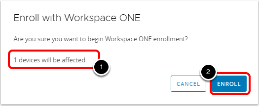 Confirm Device Enrollment with Workspace ONE