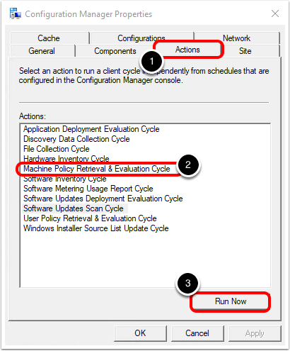 Review Configuration Manager Client Properties