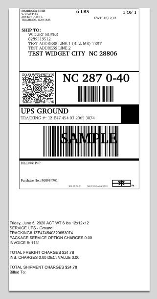 4x8 label example