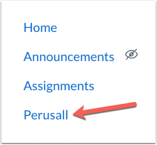 perusall in Canvas course nav