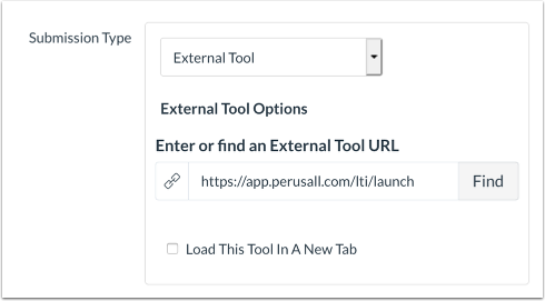 external tool submission type