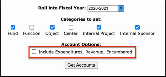 District Initial Account Balances