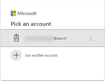 If already logged on before, your account will be listed. Click your account.