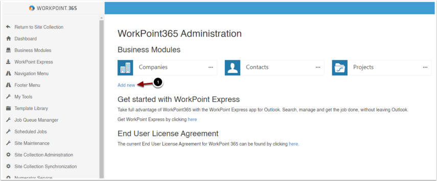 WorkPoint365 Administration - Google Chrome