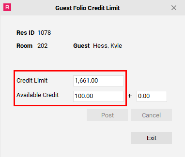 Review New Credit Limit