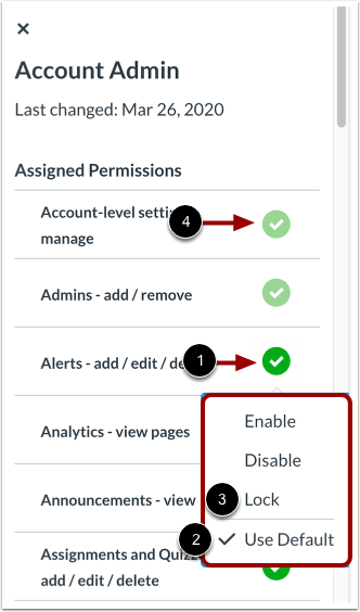 Manage User Role Permissions